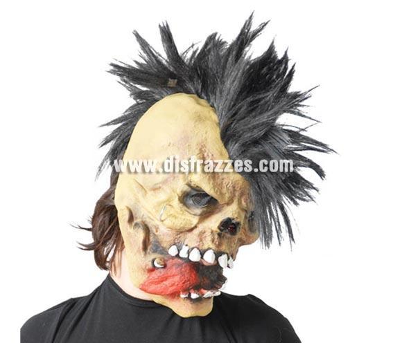 Máscara o Careta de monstruo con pelo para Halloween.