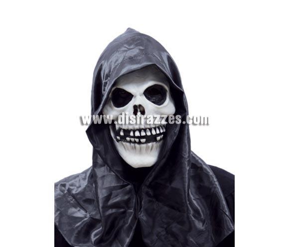 Máscara o Careta de Calavera con capucha para Halloween.