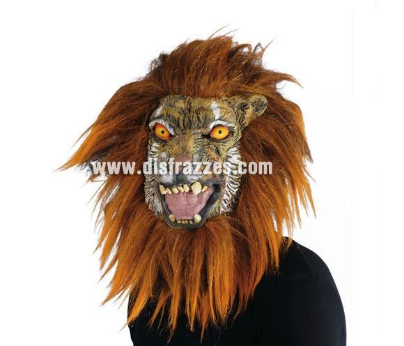 Máscara de Tigre con pelo para Halloween.