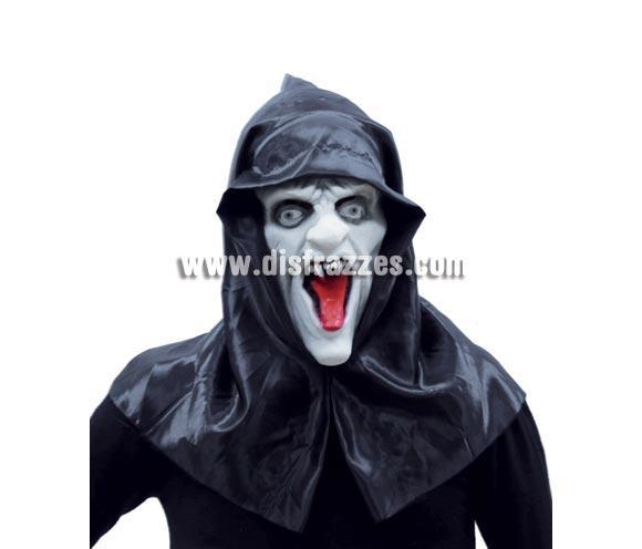 Máscara o Careta de vampiro con capucha para Halloween.