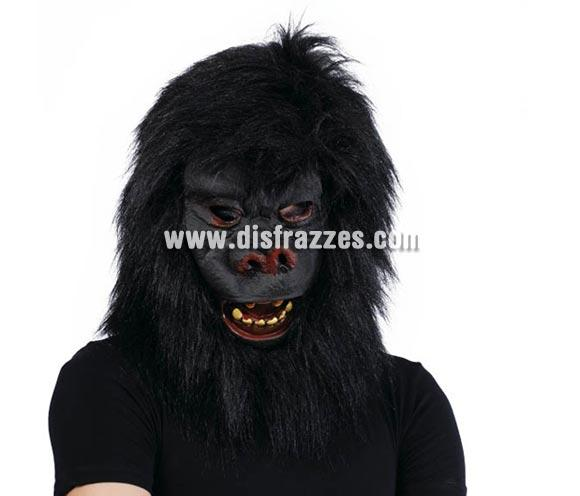 Careta o Máscara de Gorila con pelo para Halloween.