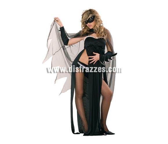 Disfraz de Heroína oscura adulta para Halloween. Talla estándar M-L = 38/42. Disfraz barato de Halloween que incluye antifaz, capa, manguitos, túnica y culote.