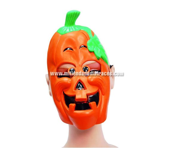 Careta de calabaza naranja.