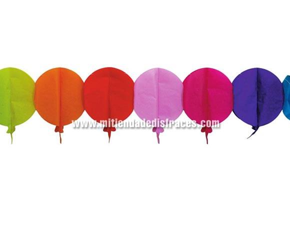 Guirnalda infantil de Globos de papel Fantasía de 20 x 400 cms. Ideal para decorar cualquier Fiesta infantil.