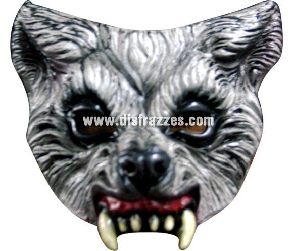 Máscara de Lobo de media cara para Halloween. Alta calidad. Fabricada en látex artesanalmente por una empresa que realiza efectos especiales para Hollywood.