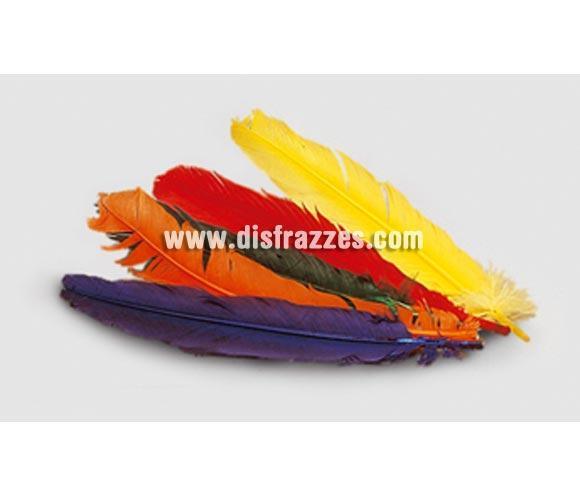 Plumas de colores variados. Se venden por separado. Precio por unidad.