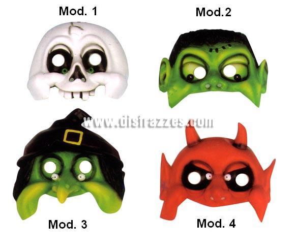 Media máscara horror niños, 4 modelos surtidos. Precio por unidad, se venden por separado. Cuando hagas el pedido, indica qué modelo quieres en observaciones si no, te mandaremos uno de los 4 existentes.