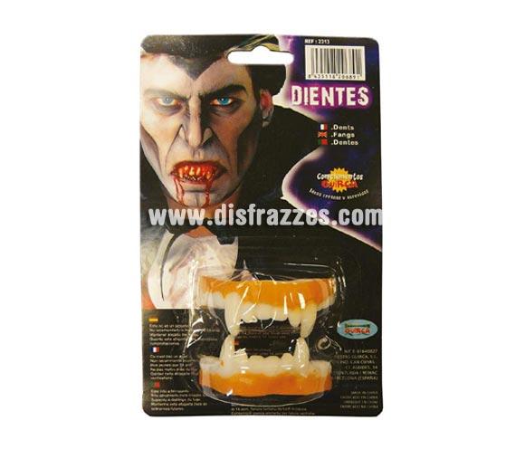 Dientes Vampiro de látex para Halloween.