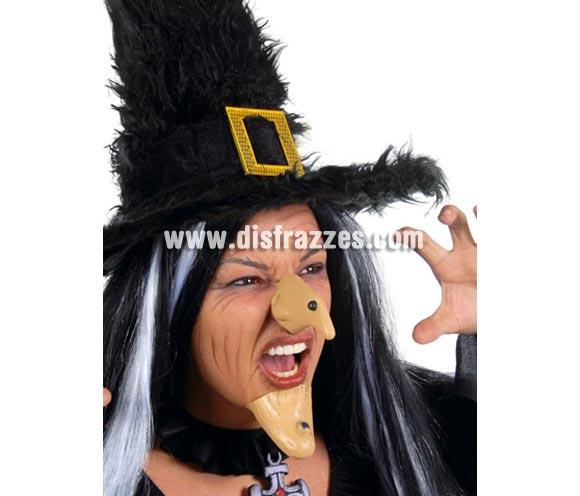 Conjunto de nariz y barbilla de Bruja para Halloween.