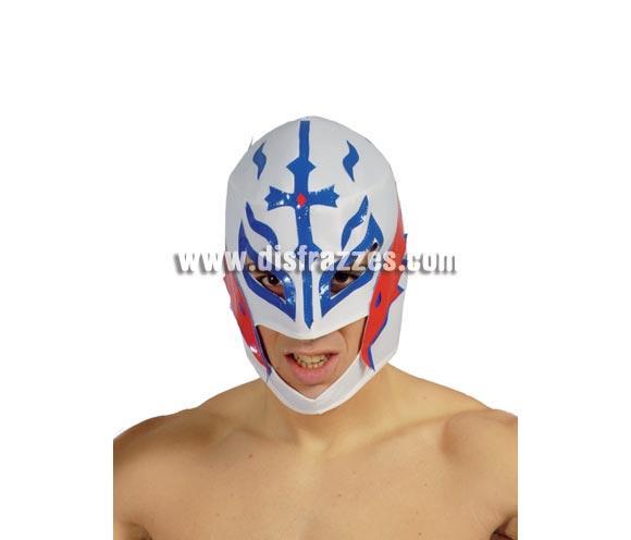 Careta o Máscara de lucha libre Blanca. Máscara de luchador. Careta de Rey Misterio. ¡¡Compra tu careta o tu máscara para Halloween o para Carnaval en nuestra tienda de disfraces, será divertido!!