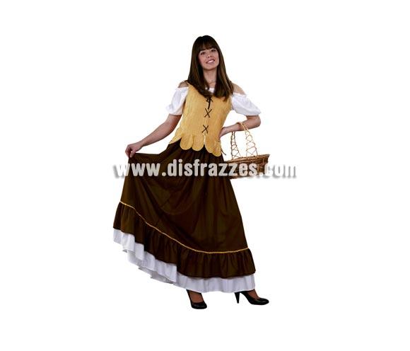 Disfraz de Mesonera Medieval barato para mujer. Talla standar M-L 38/42. Incluye camisa, chaleco y falda. Disfraz de Tabernera o Posadera Medieval barato pero muy bonito para Fiestas o Ferias Medievales.