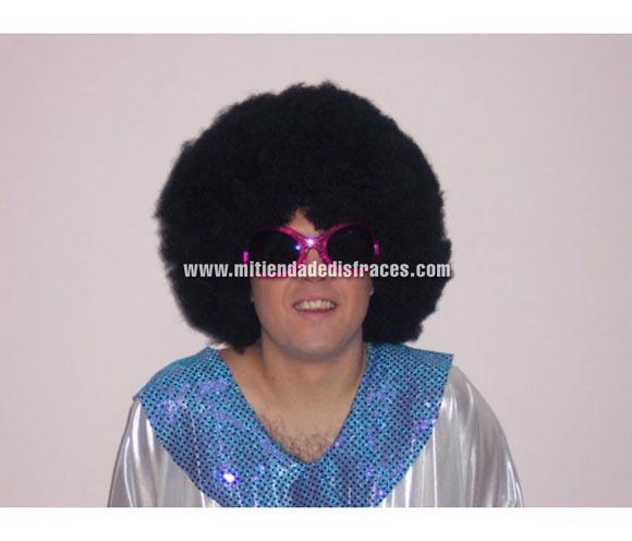 Peluca afro pelo de 21 cm. negra. Muy buena calidad. Fabricada en España. Talla universal.