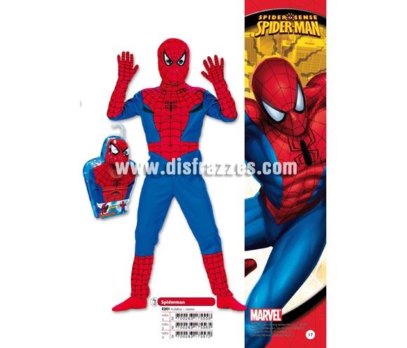 Disfraz de Spiderman infantil para Carnaval. Disponible en varias tallas. Incluye disfraz y careta. Guantes NO incluidos. Presentación en blister regalo. Disfraz con licencia MARVEL perfecto como regalo. Éste traje es perfecto para Carnaval y como regalo en Navidad, en Reyes Magos, para un Cumpleaños o en cualquier ocasión del año. Con éste disfraz harás un regalo diferente y que seguro que a los peques les encantará y hará que desarrollen su imaginación y que jueguen haciendo valer su fantasía.  ¡¡Compra tu disfraz para Carnaval o para regalar en Navidad o en Reyes Magos en nuestra tienda de disfraces, será divertido y quedarás muy bien!!