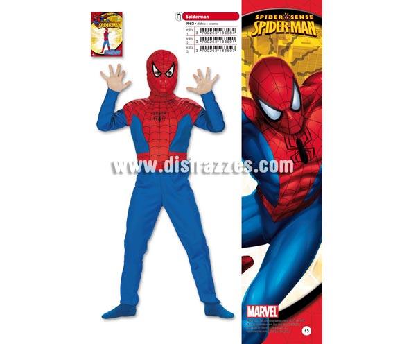 Disfraz de Spiderman infantil para Carnaval. Disponible en varias tallas. Incluye disfraz y careta. Presentación en percha ya bolsa. Disfraz con licencia MARVEL perfecto como regalo. Éste traje es perfecto para Carnaval y como regalo en Navidad, en Reyes Magos, para un Cumpleaños o en cualquier ocasión del año. Con éste disfraz harás un regalo diferente y que seguro que a los peques les encantará y hará que desarrollen su imaginación y que jueguen haciendo valer su fantasía.  ¡¡Compra tu disfraz para Carnaval o para regalar en Navidad o en Reyes Magos en nuestra tienda de disfraces, será divertido y quedarás muy bien!!