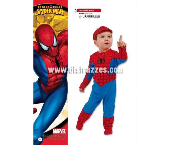 Disfraz de Spiderman Baby para Carnaval. Talla de 1 año. Incluye disfraz y gorro.  Presentación en percha y bolsa. Disfraz con licencia MARVEL perfecto como regalo. Éste traje es perfecto para Carnaval y como regalo en Navidad, en Reyes Magos, para un Cumpleaños o en cualquier ocasión del año. Con éste disfraz harás un regalo diferente y que seguro que a los peques les encantará y hará que desarrollen su imaginación y que jueguen haciendo valer su fantasía.  ¡¡Compra tu disfraz para Carnaval o para regalar en Navidad o en Reyes Magos en nuestra tienda de disfraces, será divertido y quedarás muy bien!!