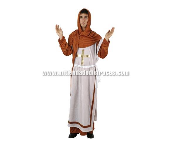 Disfraz de Monje adulto. Talla Standar M-L = 52/54. Disfraz de Franciscano para hombre.