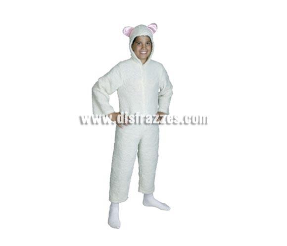 Disfraz de Ovejita blanca talla de 7 a 9 años. Incluye mono con capucha.