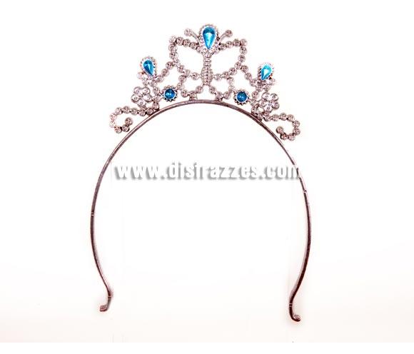 Tiara o diadema de Princesa plateada con 5 piedras para Carnaval. El complemento ideal para tu disfraz de Princesa. También se usa mucho en Despedidas de Soltera.