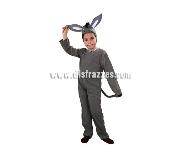 Disfraz de Mula barato para niños. Talla de 7 a 9 años. Incluye mono y capucha. Disfraz de Burro o Burrita de Navidad.
