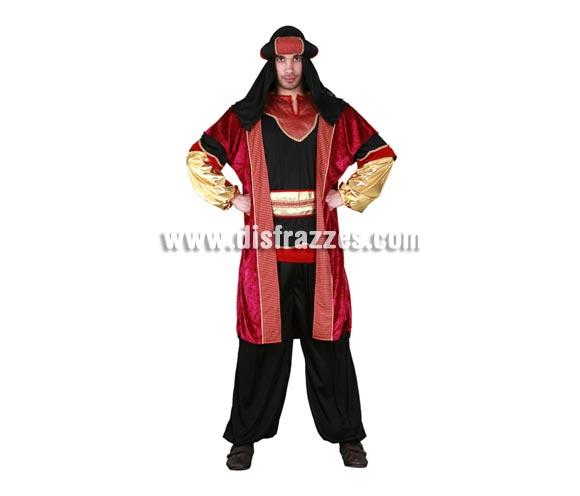 Disfraz de Paje Real o de Sultán Real adulto para Carnaval o para Navidad. Talla standar M-L 52/54. Incluye camisa, pantalón, cinturón, abrigo y turbante.