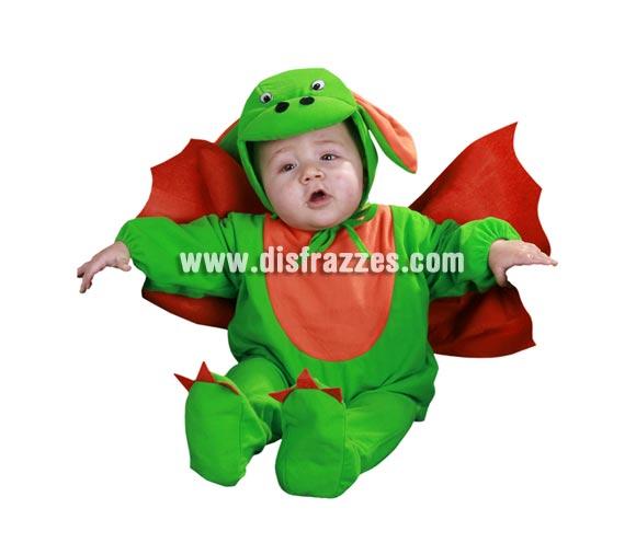 Disfraz barato de Dragoncito Bebés para Carnaval. Talla de 6 a 12 meses. Incluye gorrito, mono y alas. ¡Bueno, bueno qué disfraz! Para hacerle fotos a montón a tu bebé.