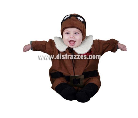 Disfraz de Piloto bebés de 6 a 12 meses para Carnaval. Incluye gorrito y mono. Con éste disfraz, tu bebé estará precioso y será un bebé de altos vuelos.