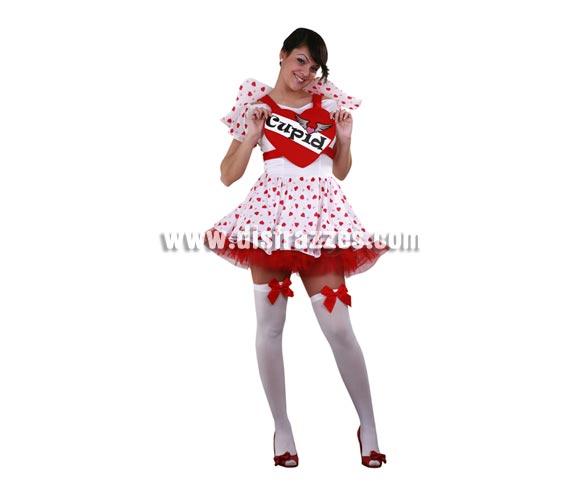 Disfraz de Lady Cupido para mujer. Talla standar M-L 38/42. Incluye vestido, corazón, alas y enaguas. Un disfraz que es una caña para Despedidas de Soltera y que también sirve para dar una sorpresa a tu pareja.