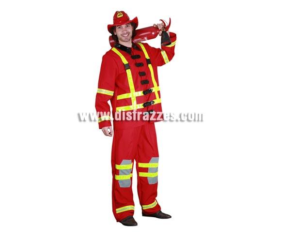 Disfraz de Bombero adulto. Talla Standar M-L 52/54. Incluye sombrero, chaqueta y pantalones. Extintor NO incluido, podrás verlo con la ref. 05296BT que es hinchable y es perfecto para éste disfraz.