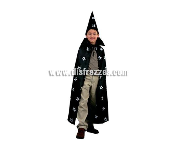 Sombrero y Capa de Mago de 95 cm. de largo para Halloween.