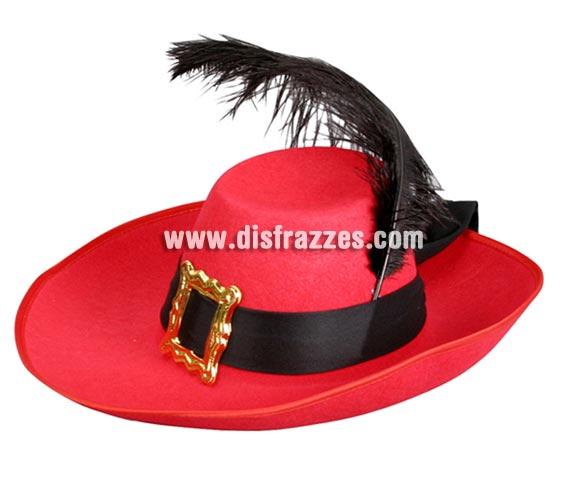 Sombrero de Mosquetero adulto con pluma para Carnaval. Talla universal de adultos. Ideal como complemento de tu disfraz de Dartañan.