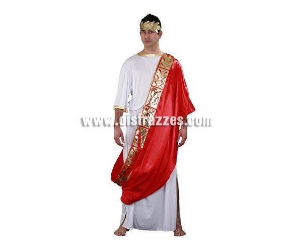 Disfraz de Emperador Romano adulto. Talla Standar M-L = 52/54. Incluye túnica, manto, cinturón y corona. Disfraz de César.