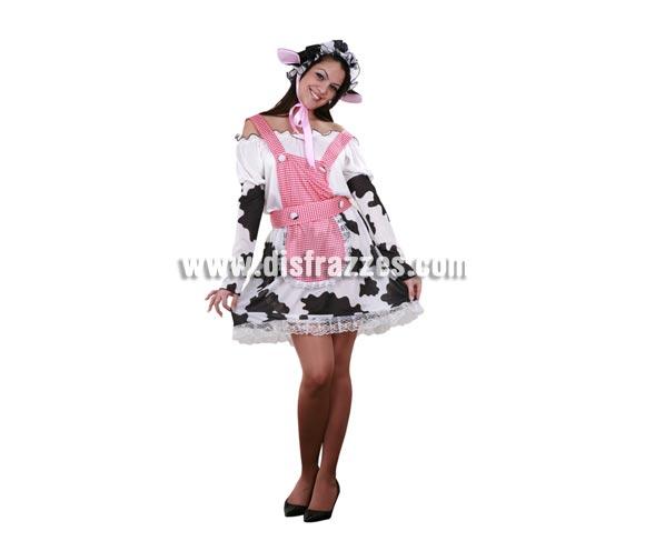 Disfraz de Ordeñadora Sexy adulta. Talla standar M-L 38/42. Incluye vestido, delantal y gorrito. Un disfraz sexy y muy cachondo ideal para Despedidas de Soltera.