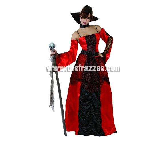 Disfraz de Vampiresa o Vampira Gótica adulta para Halloween. Tala standar  M-L = 38/42. Cetro o Bastón de mando NO incluido.