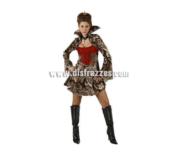 Disfraz de Vampiresa adulta para Halloween. Talla standar M-L = 38/42. Botas y medias NO incluidas.