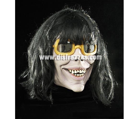 Careta con pelo de Michael Jackson para Halloween.