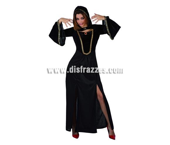 Disfraz de Dama Oscura adulta para Halloween. Talla Universal M-L = 38/42.