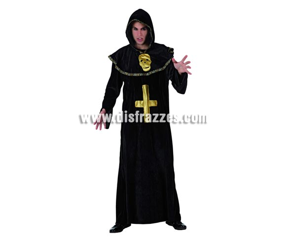 Disfraz de Señor de la Noche o Monje Gótico adulto para Halloween. Talla única 52/54.