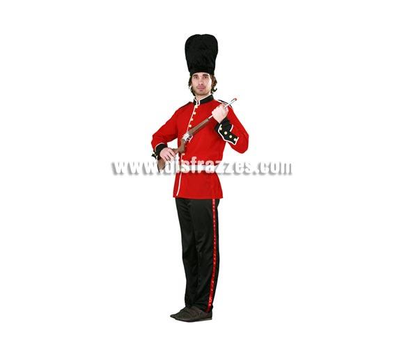 Disfraz de Guardia Inglés para hombre. Talla standar M-L 52/54. Incluye sombrero, chaqueta, cinturón y pantalón. Rifle NO incluido.