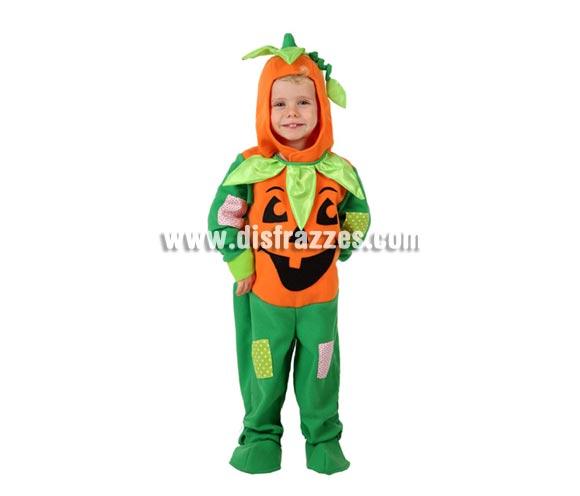Disfraz de Calabaza niños para Halloween. Talla de 1 a 2 años. Incluye mono y capucha. El gorrito NO lleva la ramita que cuelga.