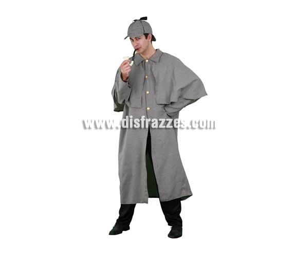 Disfraz de Sherlock Holmes para hombre. Talla standar M-L 52/54. Incluye abrigo y sombrero. Disfraz de Detective o Investigador para hombre.