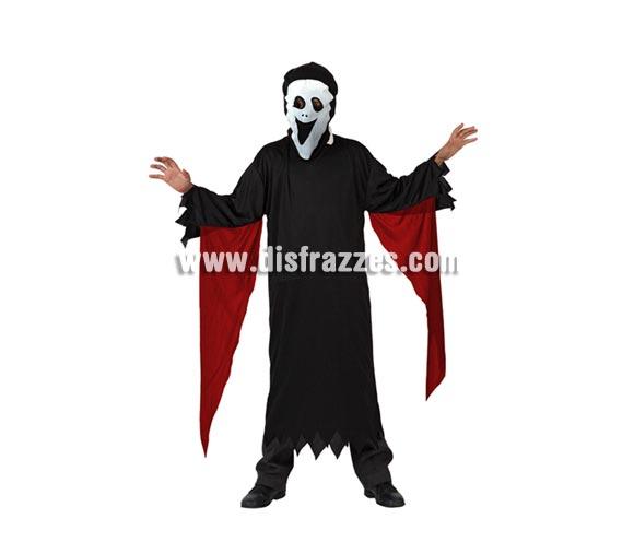 Disfraz de Fantasma Scream para niño. Talla de 10 a 12 años. Incluye disfraz y careta.