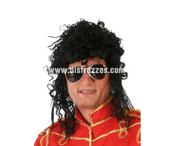 Peluca Rey del Pop Rizada. Peluca para el disfraz de Michael Jackson Rizada.