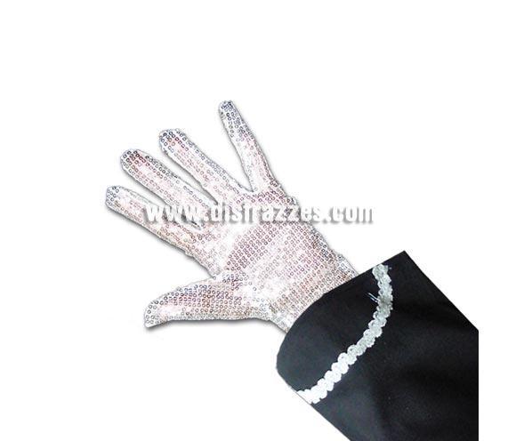 Guante de lentejuelas Rey del Pop para Carnaval. Guante para el disfraz de Michael Jackson.