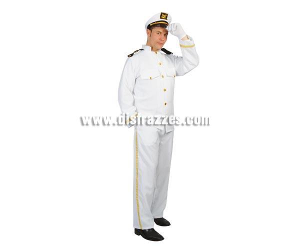 Disfraz de Capitán de Yate adulto para Carnavales. Talla única 52/54. Incluye gorro, chaqueta y pantalón. Disfraz de Capitán de Barco para hombre muy completo.