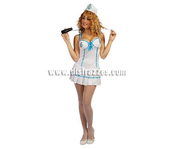 Disfraz de Marinera Super sexy adulta para Carnavales. Talla única hasta la 38/40. Incluye gorro y vestido.