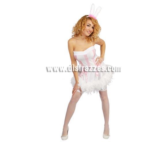 Disfraz de Conejita Super Sexy adulta para Carnavales. Talla única hasta la 38/40. Incluye diadema y vestido. Ideal para Despedidas de Soltera o para darle una sorpresa a tu chico.