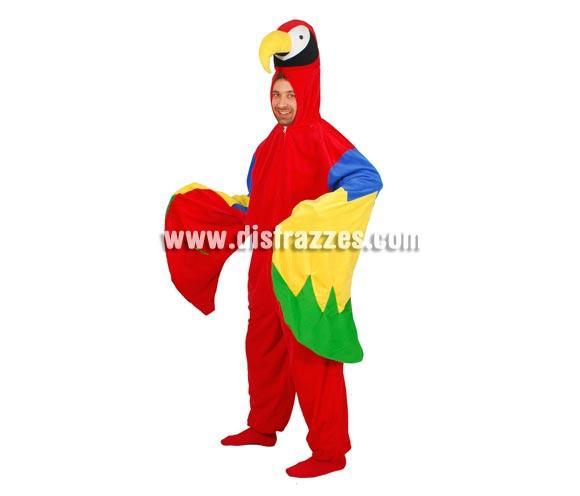 Disfraz de Loro adulto para Carnavales. Talla única 52/54. Incluye mono con capucha con forma de loro. Un disfraz calentito para Carnaval.