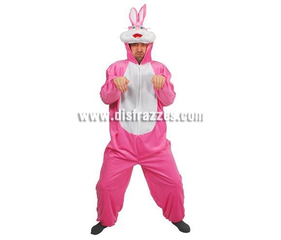 Disfraz de Conejo adulto para Carnavales. Talla única 52/54. Incluye mono con capucha. Un disfraz muy calentito para el Carnaval.