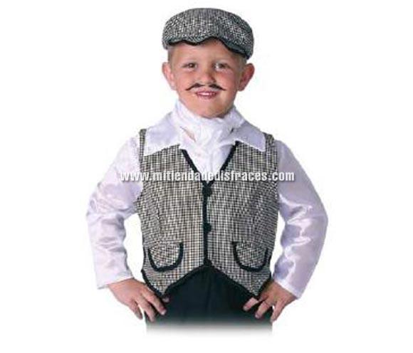 Gorra de chulapo infantil. Talla de niños. Alta calidad. Hecho en España.