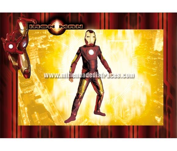 Disfraz de Iron Man infantil. Disponible en varias tallas. Incluye disfraz y careta. Disfraz con licencia ideal para pedir a los Reyes Magos o Papa Noel. Presentación en percha y bolsa.